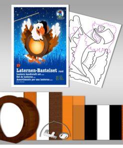 Ursus Laternen-Bastelset, rund, Adler
