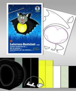 Ursus Laternen-Bastelset, rund, Fledermaus