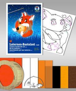Ursus Laternen-Bastelset, rund, Fuchs