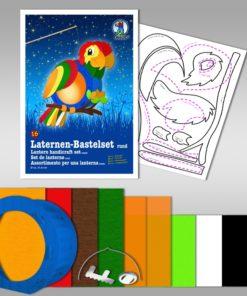 Ursus Laternen-Bastelset, rund, Papagei