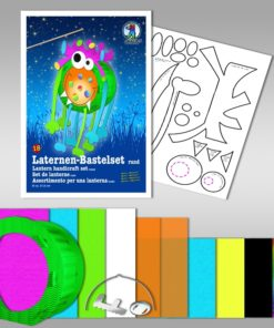 Ursus Laternen-Bastelset, rund, Monster