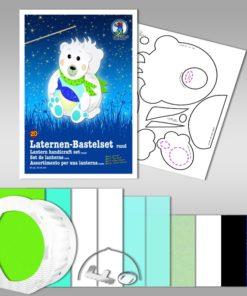 Ursus Laternen-Bastelset, rund, Eisbär