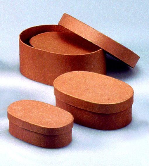 Efco ovale Papp-Schachteln, 3-teilig, 13,5-19cm, zum Basteln