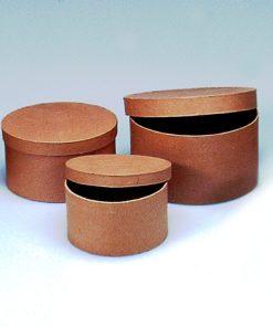 Efco runde Pappschachtel, 3-teilig, zum Basteln