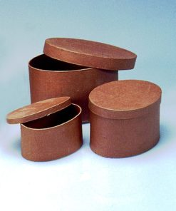 Efco ovale Papp-Schachteln, 3-teilig, zum Basteln