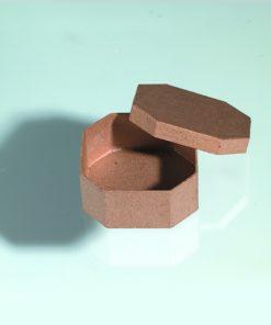 Papp-Schachtel, 9x9x4 cm, in achteckiger Form