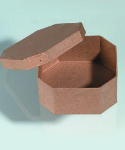 Papp-Schachtel, 13x13x6 cm, in achteckiger Form