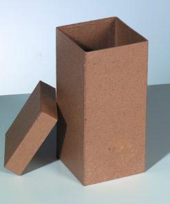 Papp-Schachtel, 9,5x9,5x H 20 cm, in quadratischer Form