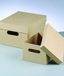 Papp-Stapelbox, 2-teilig, in rechteckiger Form