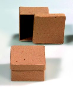 Papp-Box mini, 7 x 4 cm, in quadratischer Form
