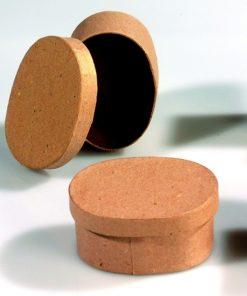 Efco ovale Papp-Box mini, 7,5x6x4cm, zum Basteln