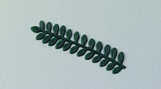 Wachs-Myrthenzweig in grün, zum Dekorieren