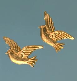 Wachsmotiv Tauben in gold, zum Dekorieren
