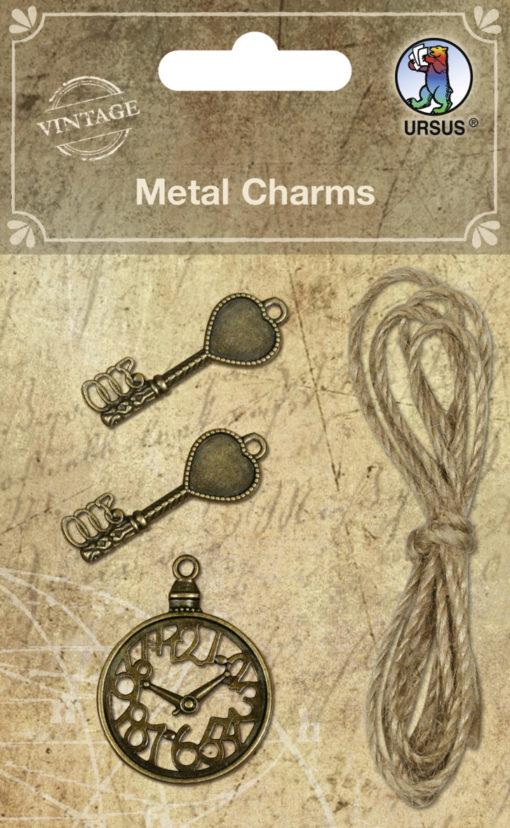 Ursus Vintage Metall Charms für Scrapbooking