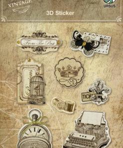 Ursus Vintage 3D-Sticker