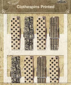 Ursus Vintage Klammern aus Holz, Wäscheklammern