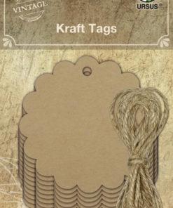 Ursus Vintage Kraft Tags rund