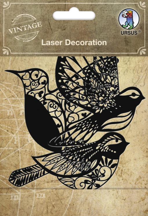 Ursus Laser Decoration Vintage Vögel