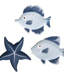 Metall Streuteile Fische + Seestern