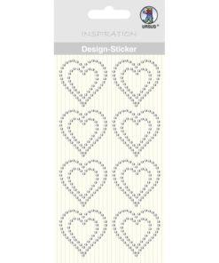 Ursus Design-Sticker Herz kristall
