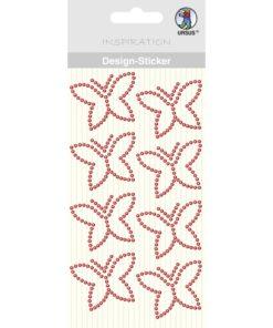 Ursus Design Sticker Schmetterling rot