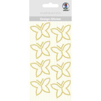 Ursus Design Sticker Schmetterling gelb