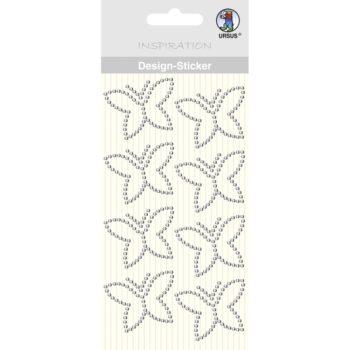 Ursus Design Sticker Schmetterling kristallklar