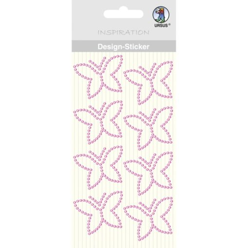 Ursus Design-Sticker Schmetterling pink