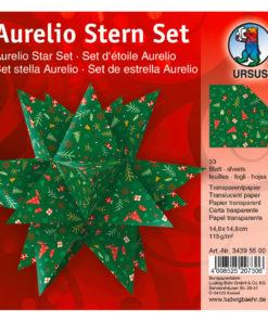 Ursus Faltblätter aus Transparentpapier, rot/grün