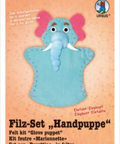 Ursus Filz-Handpuppe Elefant, zum Gestalten