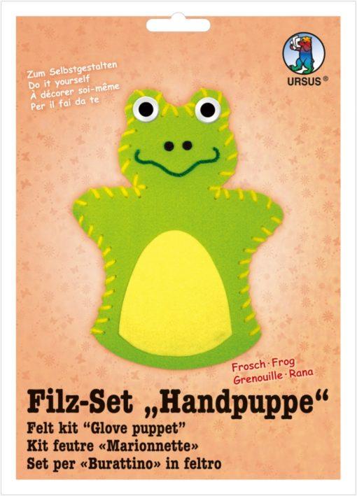 Ursus Filz-Handpuppe Frosch, zum Gestalten