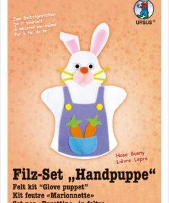 Ursus Filz-Handpuppe Hase, zum Gestalten