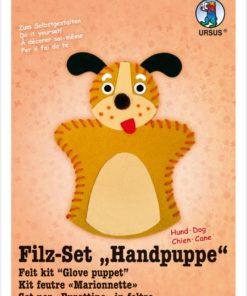Ursus Filz-Handpuppe Hund, zum Gestalten