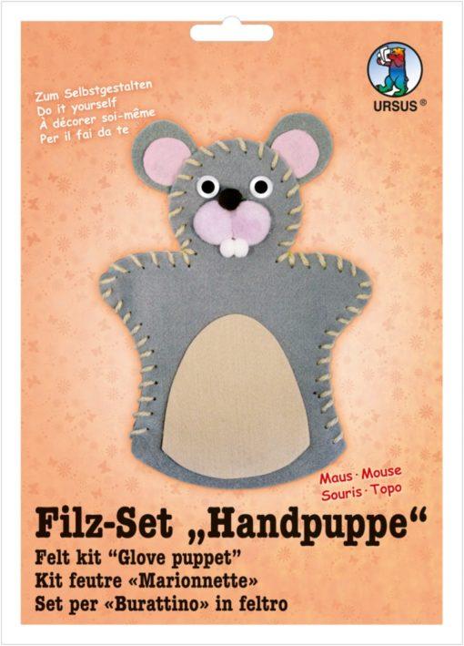 Ursus Filz-Handpuppe Maus, zum Gestalten