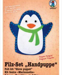 Ursus Filz-Handpuppe Pinguin, zum Gestalten