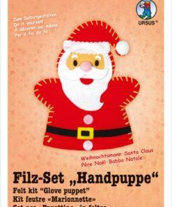 Ursus Filz-Handpuppe Weihnachtsmann, zum Gestalten