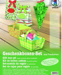 Ursus Geschenkboxen-Set aus Fotokarton