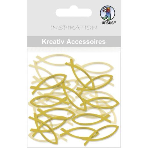 Ursus Kreativ Accessoires, Mini-Pack, Fische, gold