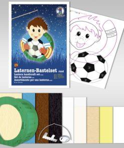 Ursus Laternen-Bastelset, rund, Fußballer