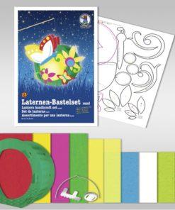 Ursus Laternen-Bastelset, rund, Schmetterling