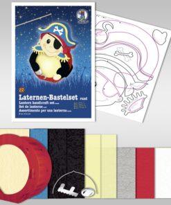 Ursus Laternen-Bastelset, rund, Pirat