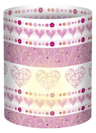 Ursus Mini-Tischlicht mit Motiv, Ø 8cm, zur Dekoration