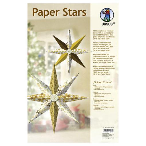 Ursus Paper Stars Papiersterne Golden Charm