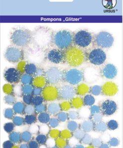 Ursus Glitzer-Pompons, Motiv 04, zum Basteln