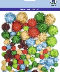 Ursus Glitzer-Pompons, Motiv 06, zum Basteln