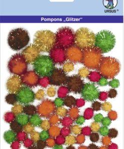 Ursus Glitzer-Pompons, Motiv 07, zum Basteln