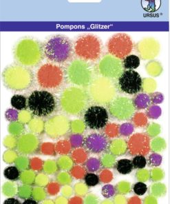Ursus Glitzer-Pompons, Motiv 08, zum Basteln