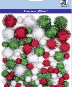 Ursus Glitzer-Pompons, Motiv 09, zum Basteln