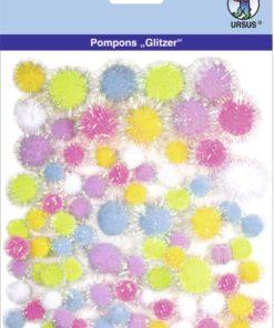 Ursus Glitzer-Pompons, Motiv 01, zum Basteln