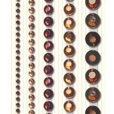 Ursus Schmucksteinsticker rund, diverse Größen sortiert, selbstklebend, zum Dekorieren